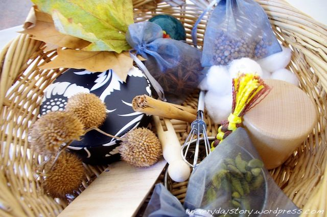 Sensory Treasure Basket for Babies: Montessori and Reggio Inspired Using Spices