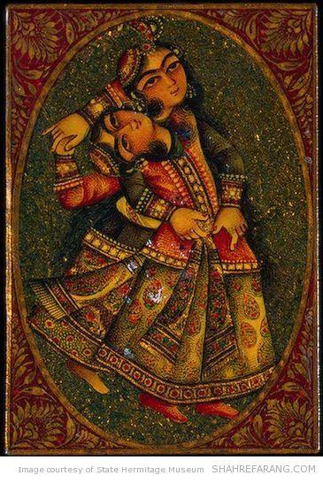 ورق بازی ایرانی، پاپیه ماشه ی لاک خورده، اواخر قرن نوزدهم. محل نگهداری: موزه ی ارمیتاژ، سنت پترزبورگ، روسیه