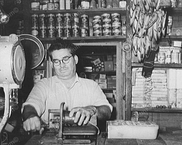 General Store Owner Slicing Baloney 1930 8x10 Reprint Of Old Photo