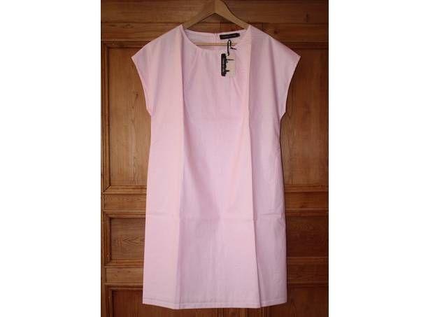 Roze jurkje 'Dolo' met korte mouwen van Odette en ville. :: Le Goût des Couleurs producten - Webshop