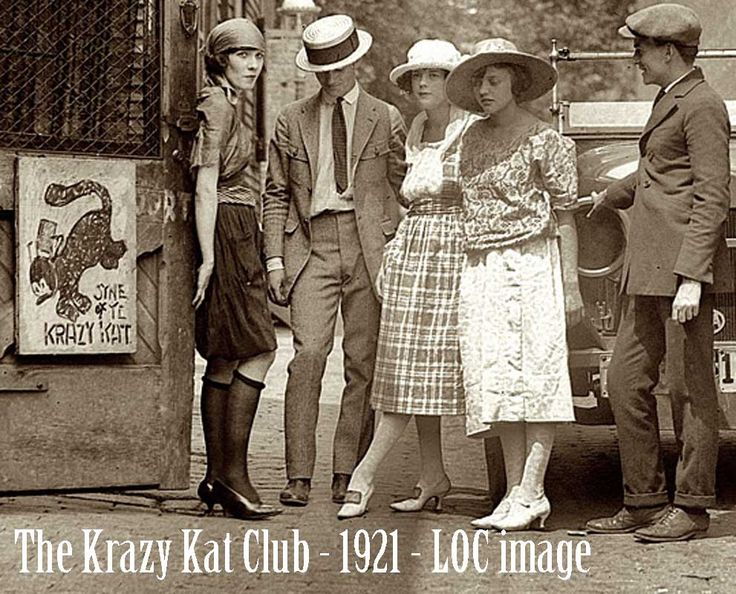 Downton Abbey Fashion Era - In the USA, the prohibition of alcohol produced the inevitable response of thousands of speak easys run by gangsters springing up across the nation. These were not to be confused with the 1920′s bohemian set, who ploughed their own path. One Notable such club to hit the headlines was the Krazy Kat Klub in Washington.