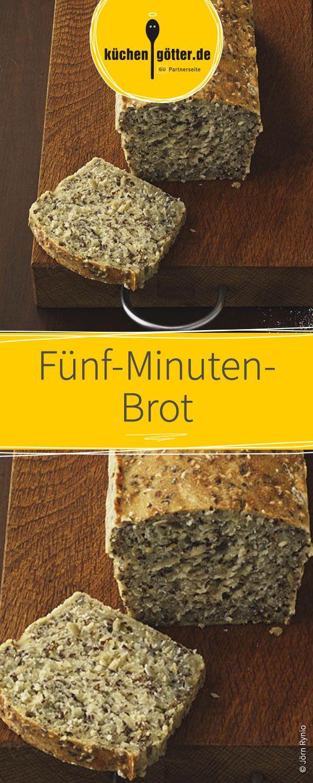 Der Teig dieses köstlichen Fünf-Minuten-Brot aus wertvollem Dinkel- oder Weizen-Vollkornmehl und den kostbarsten Samen ist in nur 5 Minuten angerührt und muss anschließend nur 30 Minuten im Backofen ruhen. Ganz schnell und einfach!