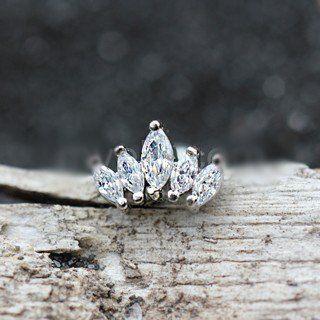 Royal Crystal Crown Cartilage Earring