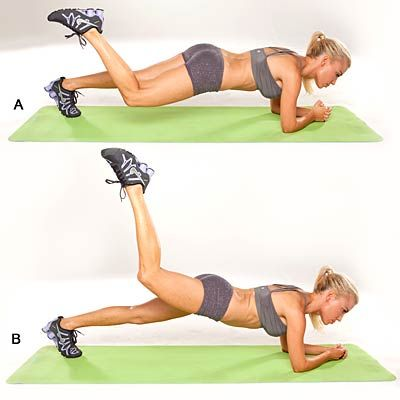 Plank Reach and Pulse: This souped up #plank will get you back to shedding pounds. #workout #weightloss | Health.com