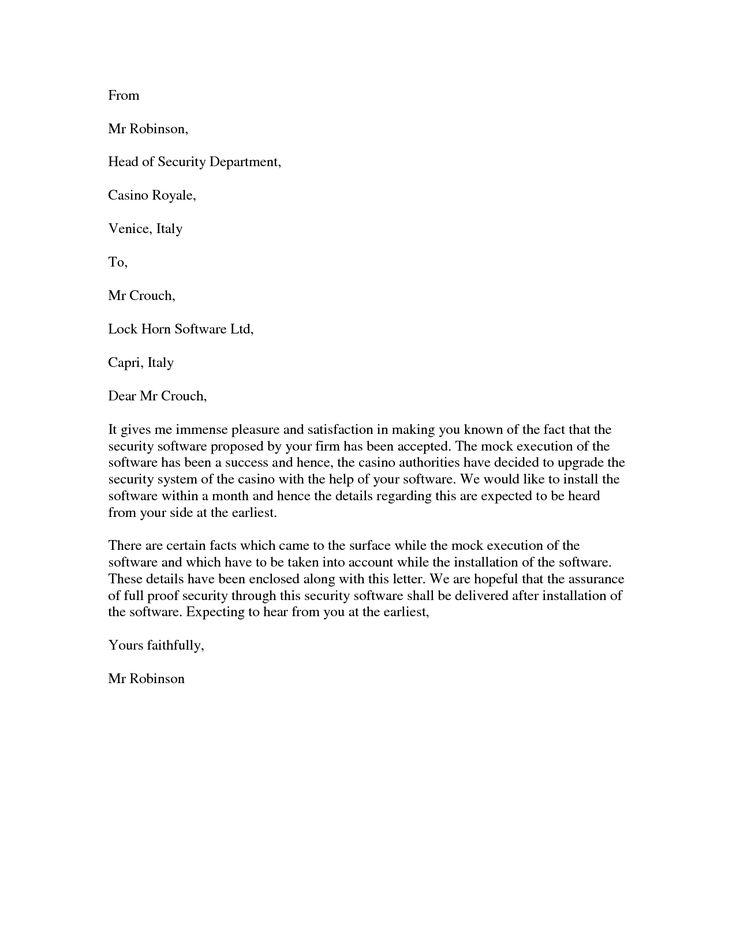 8 best Sample Acceptance Letters images on Pinterest Sample resume - acceptance of offer