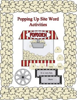 Popping Up Site Word Activities is a fun way to learn site words, spelling, sentence structure, alphabet matching and a bonus 1-10 number to dots match.