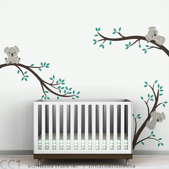 Monochromatic Leaning Tree Wall Decal Super by LeoLittleLion