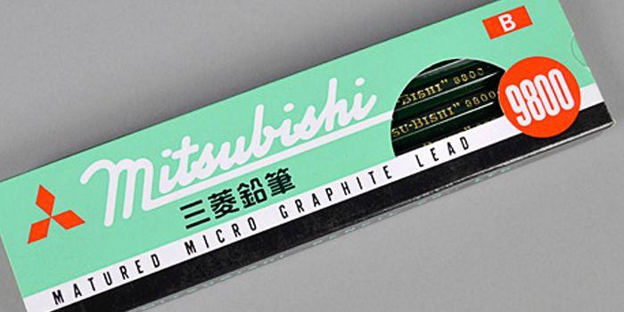 Mitsubishi 9800 Pencils - The Dieline -
