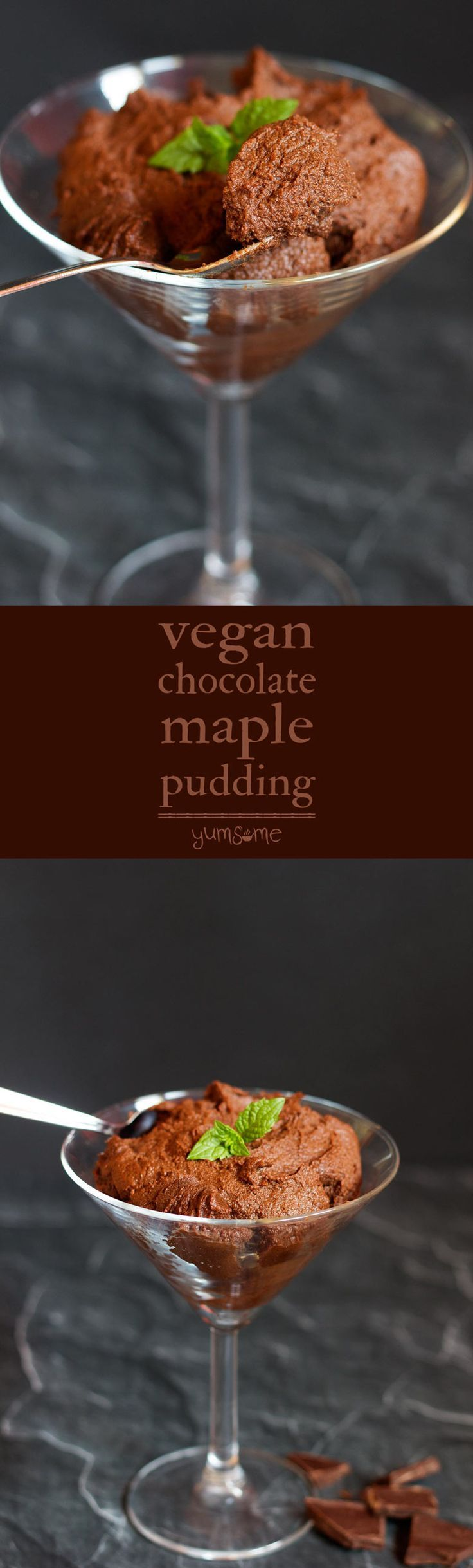 My easy healthy vegan chocolate maple pudding is sweet and velvety-smooth, takes just 10 minutes to make, and is legitimately good for you too!   yumsome.com via @yums0me