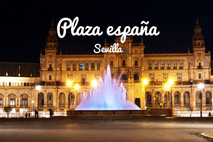 Plaza de España de Sevilla     La Plaza de España es un conjunto arquitectónico que se encuentra en el Parque de María Luisa en Sevilla (España), proyectado por el arquitecto Aníbal González. Se construyó entre 1914 y