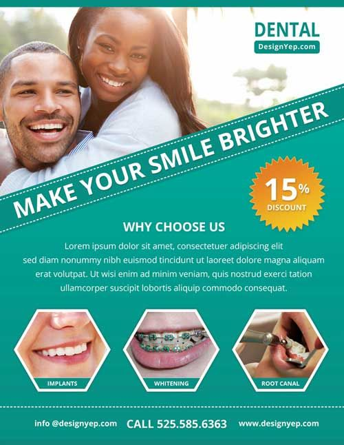 Free Dental Care PSD Flyer Template - http://freepsdflyer.com/free-dental-care-psd-flyer-template/ Enjoy downloading the Free Dental Care PSD Flyer Template by Designyep!  #Business, #Class, #Corporate, #Promotion, #Sales, #Sports, #Yoga