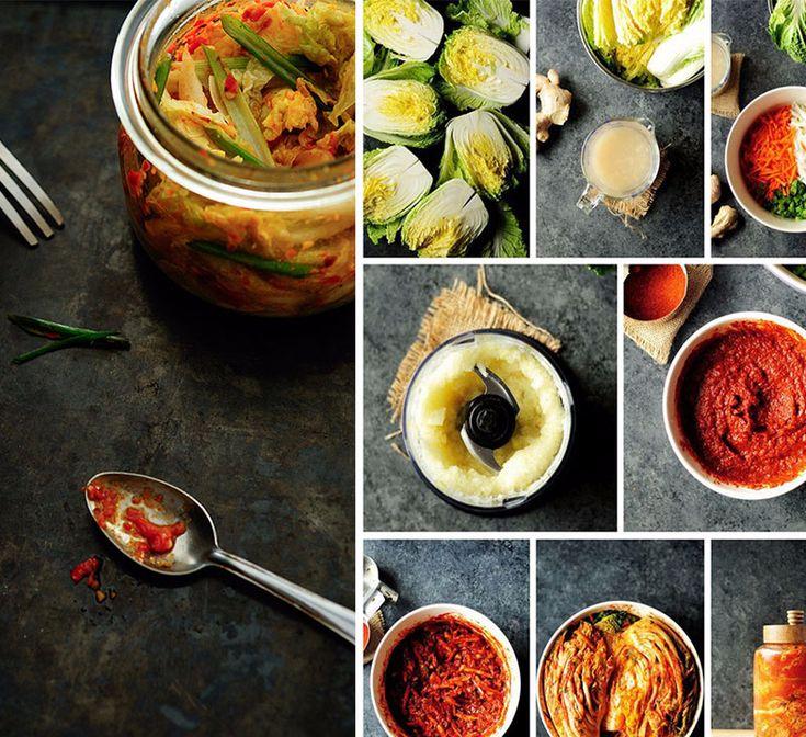 Рецепты здоровой еды: Кимчи - традиционное корейское блюдо из ферментированных овощей с перцем чили.Обычно на основе капусты, но также можно приготовить с огурцами.Мне нравится вкус и текстура, кимчи мягкая, но все еще слегка хрустящая.