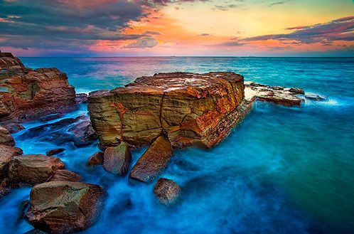 Sunset before storm, North Avoca Beach, NSW