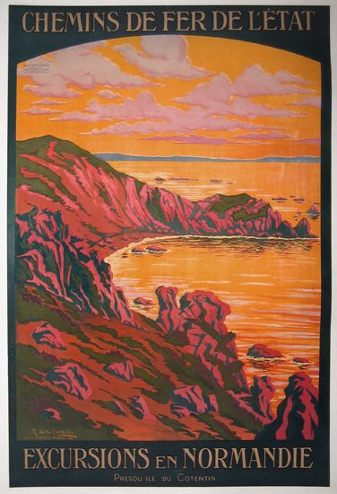 French travel posters - Normandie