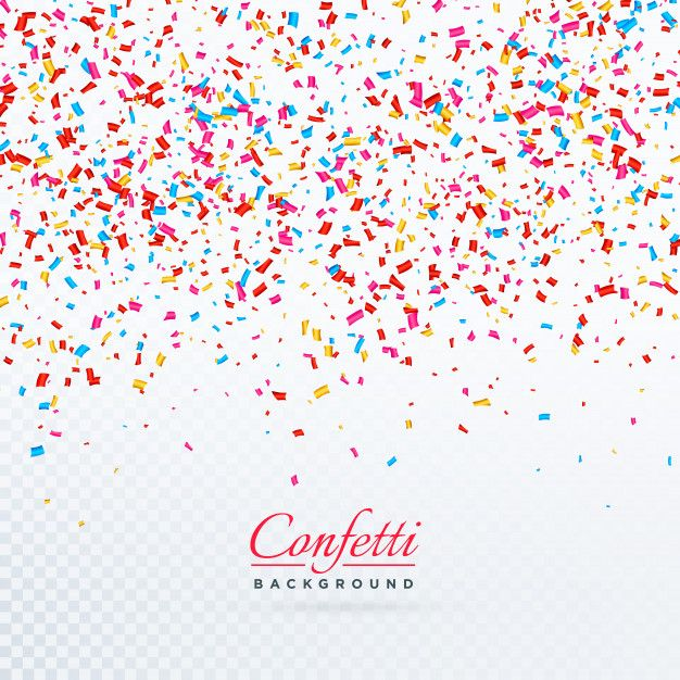 Download Colorful Falling Confetti Background Design For Free In