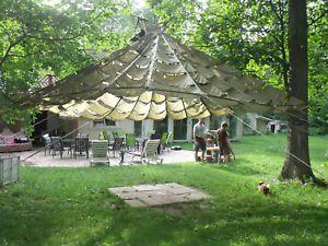Top 25 ideas about tarp shade on pinterest tarp shelters pergola shade and retractable pergola - Tent tuin pergola ...