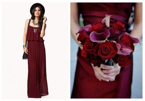 Burgundy wedding inspiration, via Aphrodite's wedding Blog