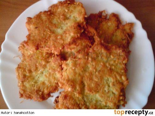 Křupavé bramboráky s ovesnými vločkami