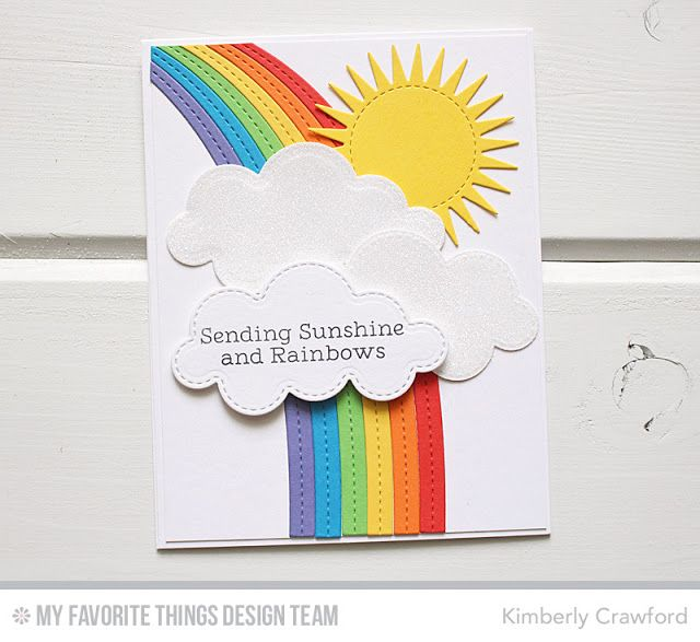 Тула, открытка с радугой внутри