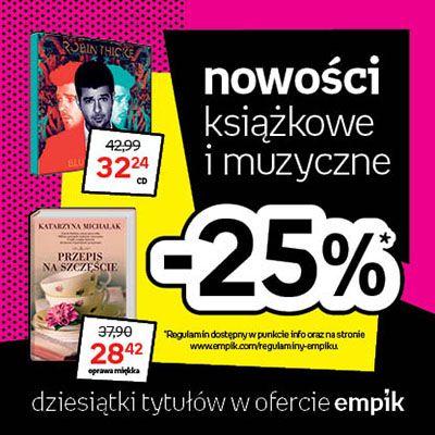 Książkowe i muzyczne nowości w Empiku 25% taniej! :)