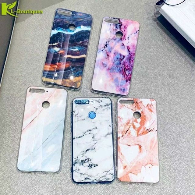 Huawei Honor 7A Pro Marble Case on for Coque Huawei Honor 7A Pro ...
