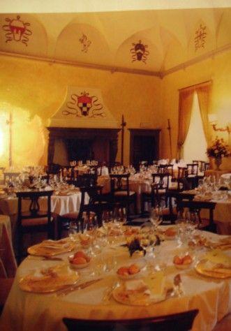 La sala degli arazzi del Castello di  Monasterolo
