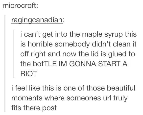 """The first thing that popped intont my head were these lyrics: """"let's start a riot, a riot. Let's start a riot."""" XD"""