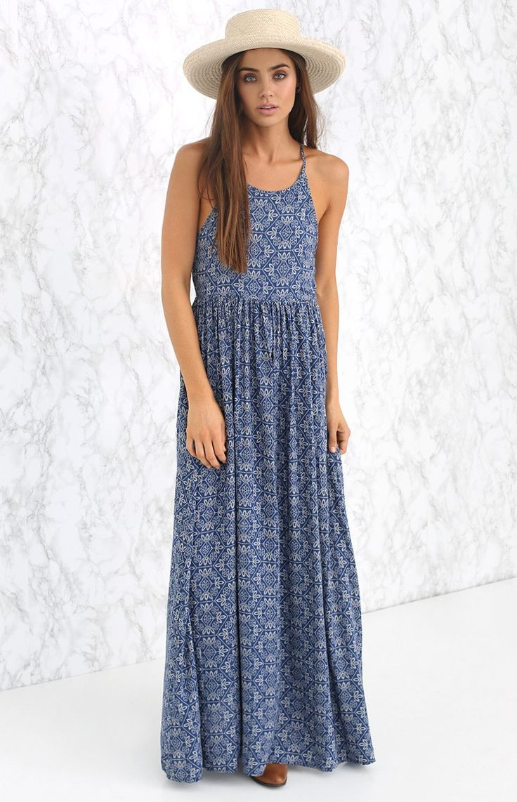 The Joanna Maxi Dress is the ultimate trans-seasonal piece! We love it teamed with strappy sandals and layered with silver accessories for a dreamy day look!