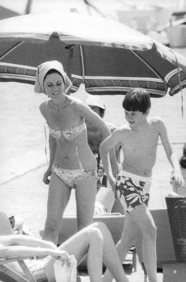 Audrey Hepburn with her husband, Andrea Dotti, at the ...