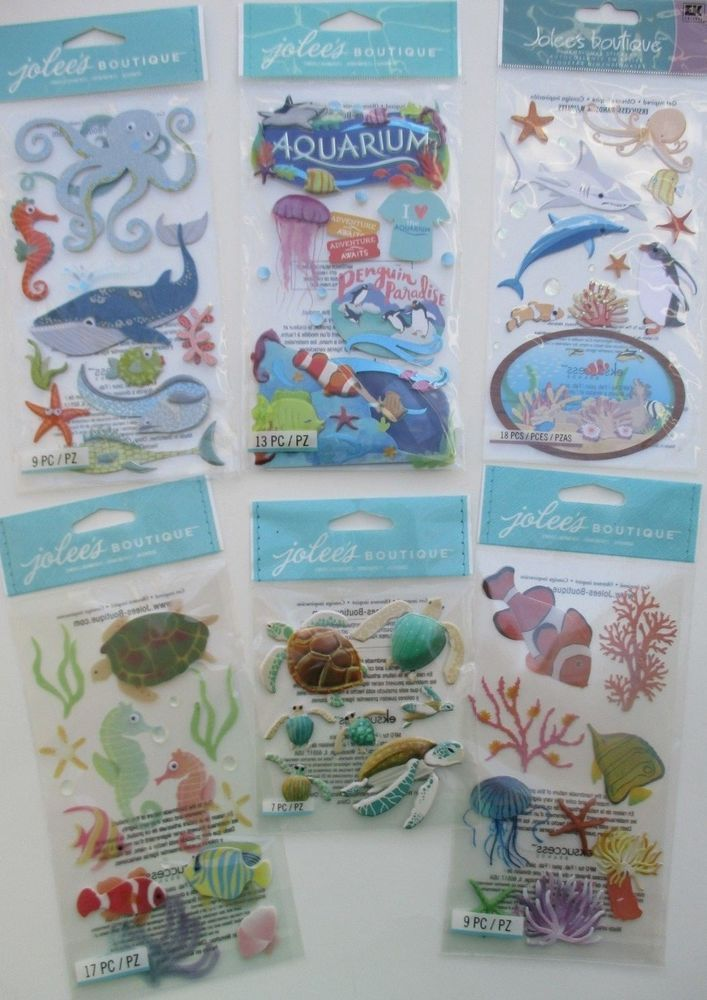 Jolee/'s NAUTICAL TRAVEL Boutique Stickers VACATION SAILBOAT SAILING THE SEA NEW