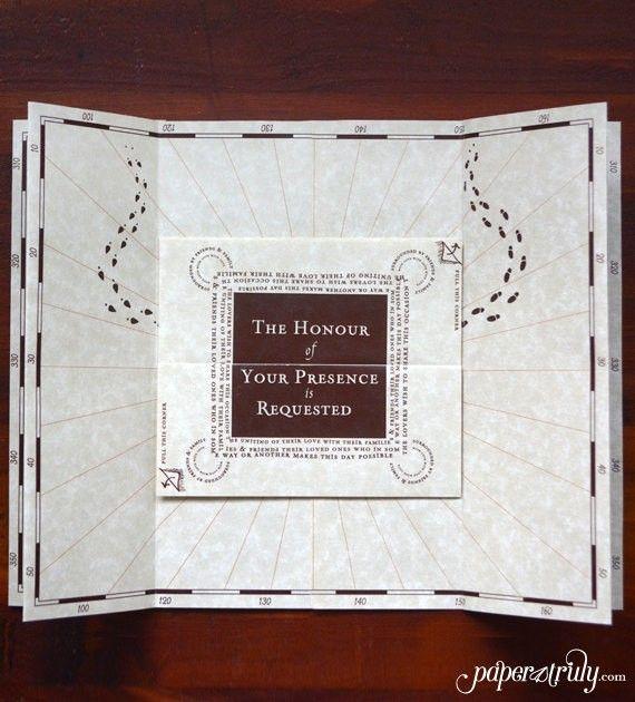 Harry Potter Wedding Invitations | | Harry Potter Wedding Ideas |  Http://emmalinebride