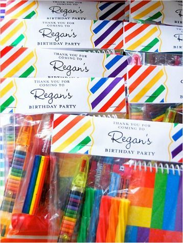 Instead of a traditional goodie bag, give guests a craft pack to take home. http://www.ivillage.com/best-diy-kids-birthday-party-favor-ideas/6-a-515641#