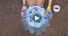 19 műanyag palackot ragasztószalaggal összefogott, amit készített belőle, az mindenkit lenyűgözött!