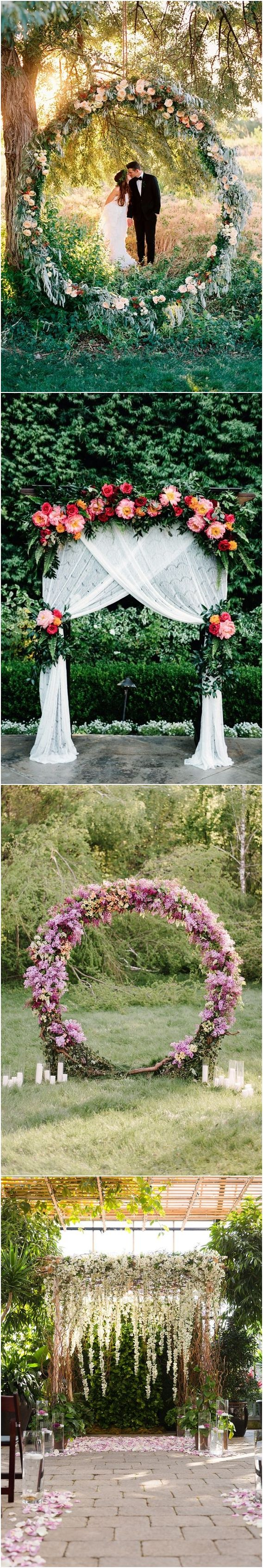 579 best wedding arches images on pinterest beach wedding arches top 20 floral wedding arch canopy ideas junglespirit Images