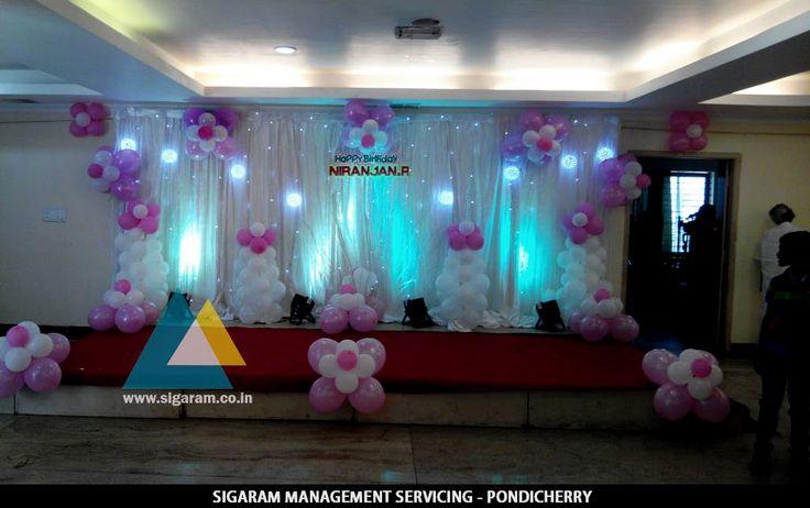 Birthday Party Decoration at Thalapathy M.K Stalin Hall, Villupuram  Birthday Function: 22nd March, 2015