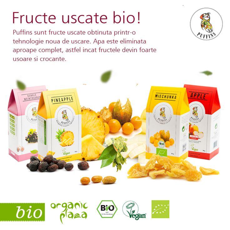 Fructe uscate BIO Delicoase! Decopetiti-le mai jos: http://organicplaza.ro/puffins