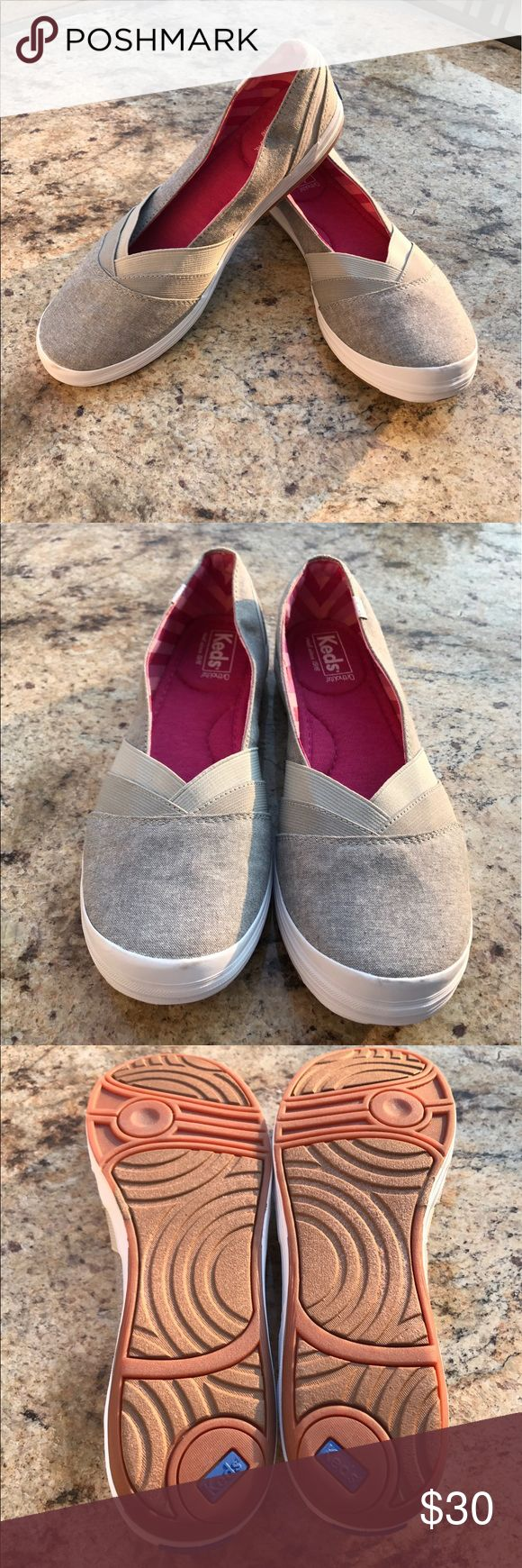 Classic Keds slip ons These are an awesome find! They are in nearly new condition! They will go great with anything!!! Keds Shoes Sneakers