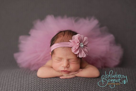 Tutu and Headband Set.  Dusty Rose Tutu Set.  Newborn Photo Prop. Birthday Tutu. Pageant Tutu. Flower Girl Tutu. Baby Shower Gift.Rose Mauve