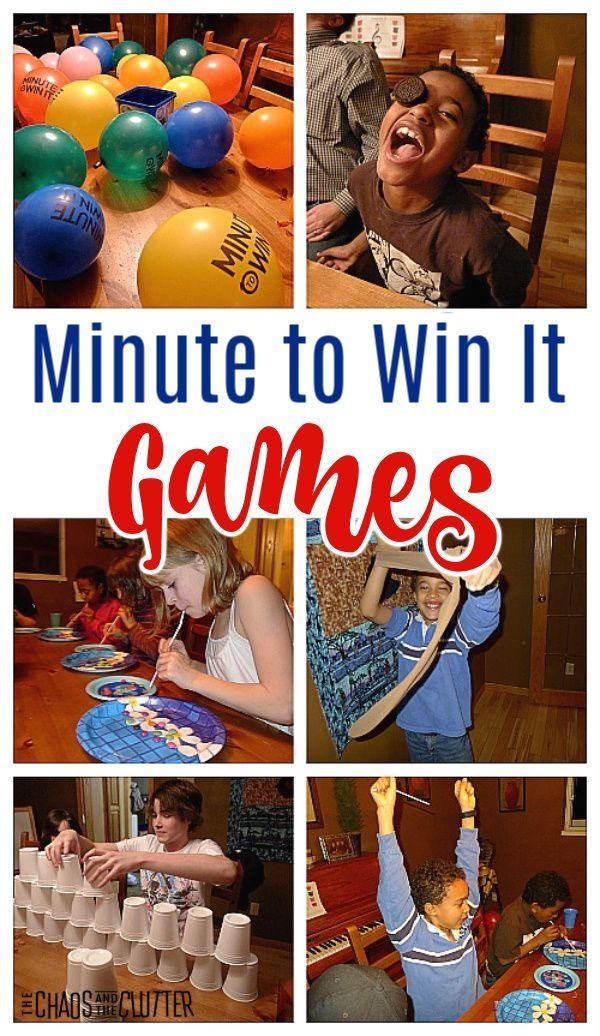 Family Fun Night Minute To Win It Fun Games For Teenagers Fun Games For Kids Family Fun Night