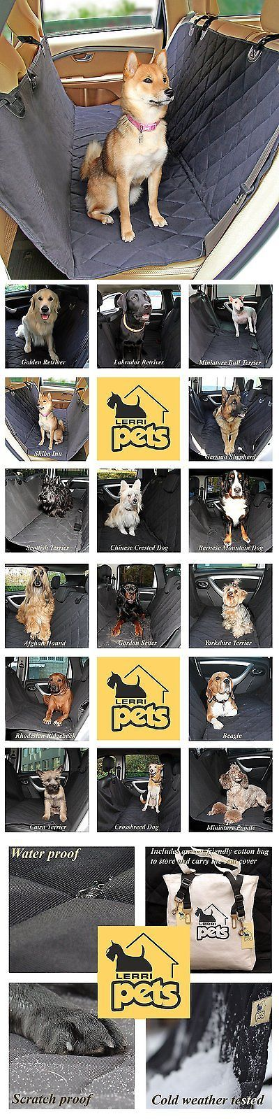 Car Seat Covers 117426: Lerripets Dog Car Seat Cover - Pet Waterproof Hammock For Cars And Suvs - With -> BUY IT NOW ONLY: $41.3 on eBay!