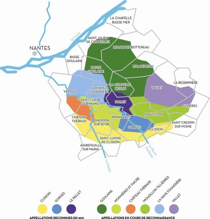 Vins Val de Loire - Muscadet crus communaux : Clisson, Gorges, Le Pallet