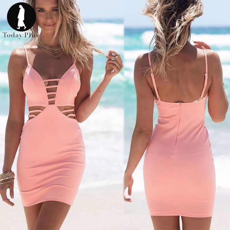 Now available on our store. V-Neck Backless S...  http://designsbyzuedi.myshopify.com/products/2017-new-fashion-women-dresses-summer-beach-sexy-v-neck-backless-slim-sleveless-hollow-out-spaghetti-straps-casual-party-dress?utm_campaign=social_autopilot&utm_source=pin&utm_medium=pin