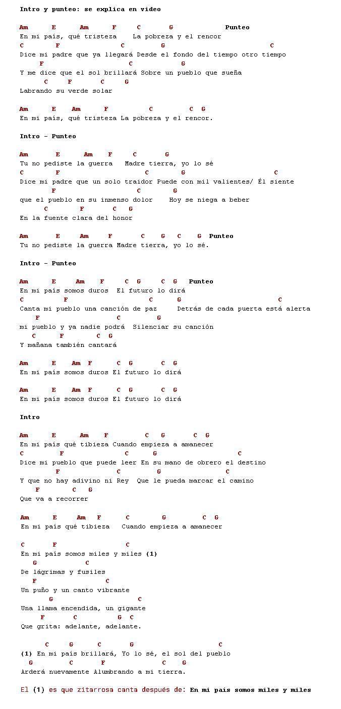 Adagio En Mi País Alfredo Zitarrosa Letras Y Acordes Clases De Guitarra Canciones