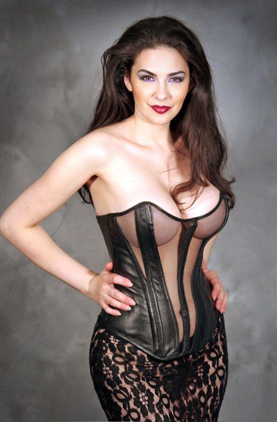 Older milf leather lingerie