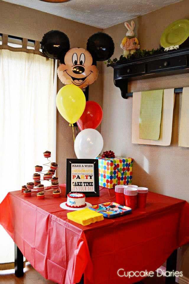 mickey mouse birthday party ideas | Cupcake Diaries: Simple Mickey Mouse Birthday Party + FREE Subway Art ...