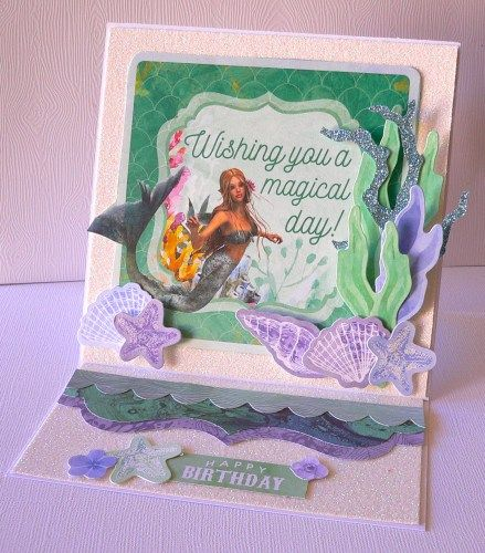 Mermaid tails- card-adriana bolzon