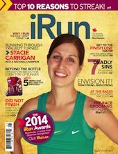 Cover photo from the current issue of iRun Magazine July 2014 Issue 05