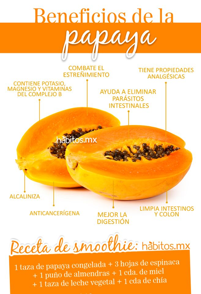 ¡Beneficios de la papaya!