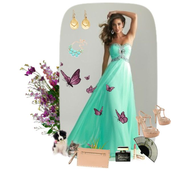 Night Moves 6642 Aqua Prom Dress