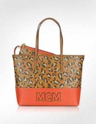 ShopStyle: MCM Shopper Project - Leopard Print Logo EW Medium Tote